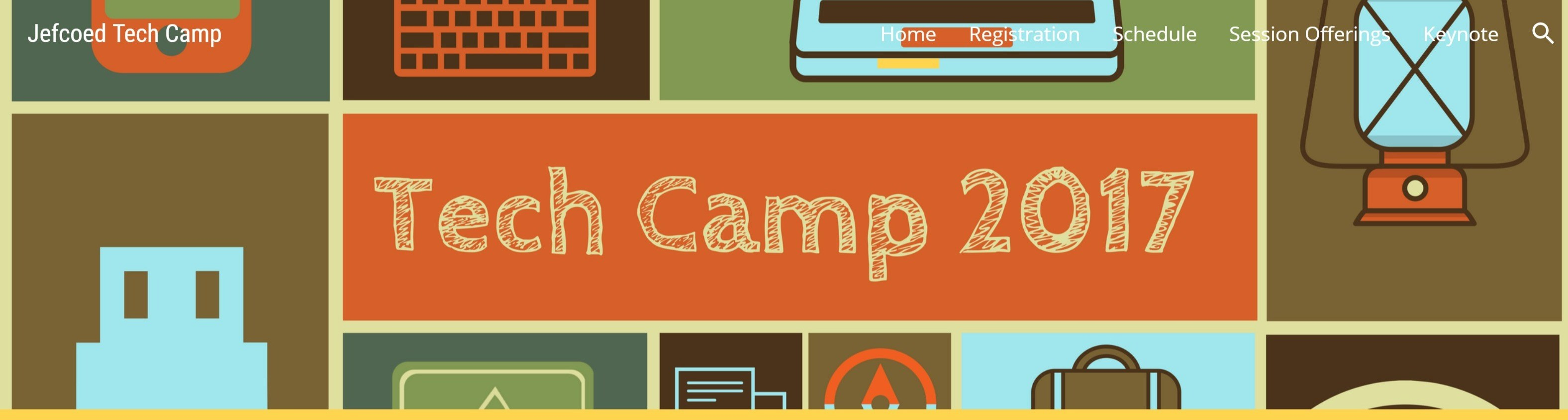 heading of tech camp website